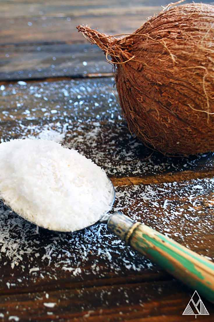 Coconut flour and a coconut