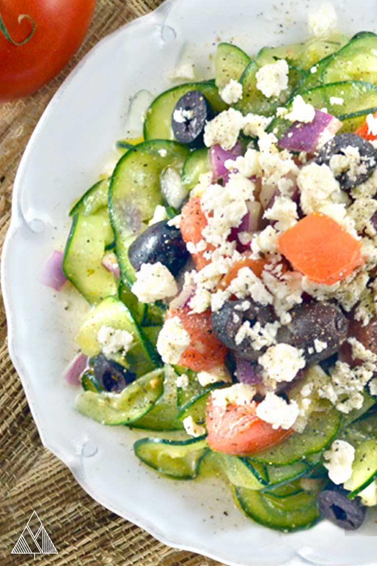 Spiralized Cucumber Salad