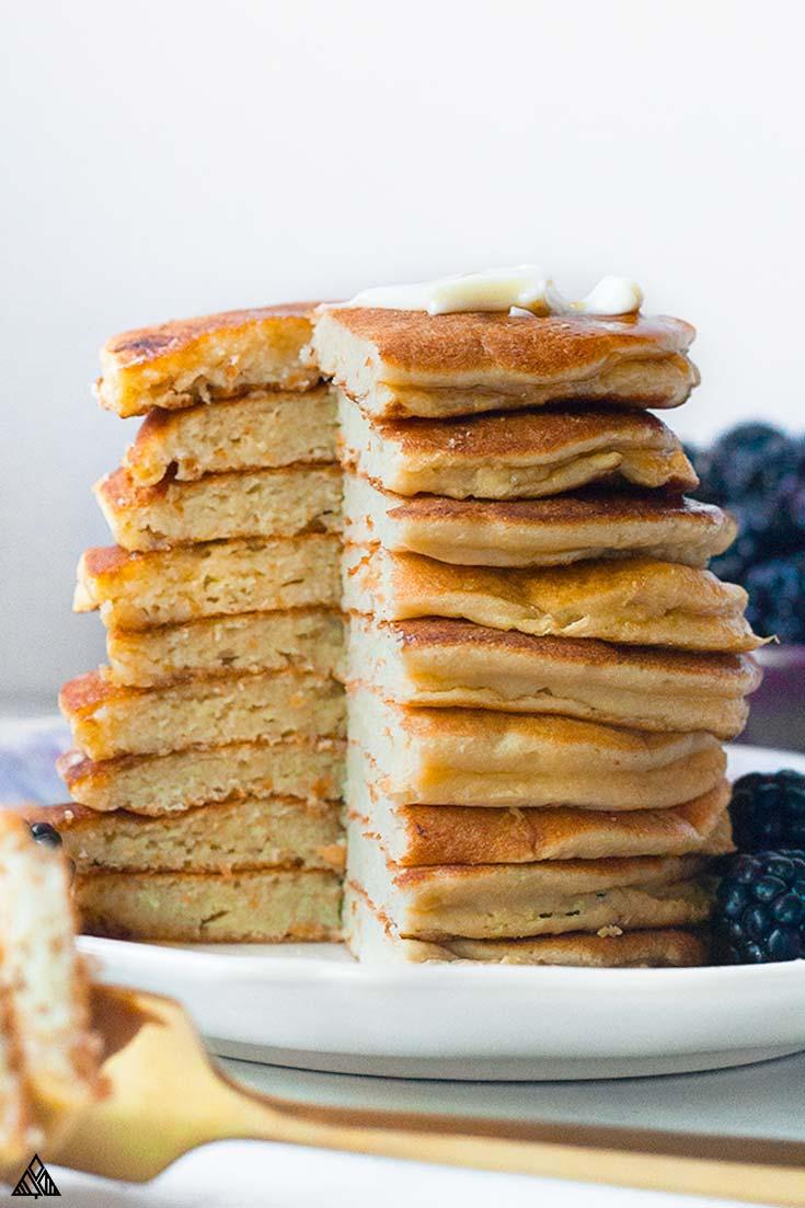 Sliced coconut flour pancakes