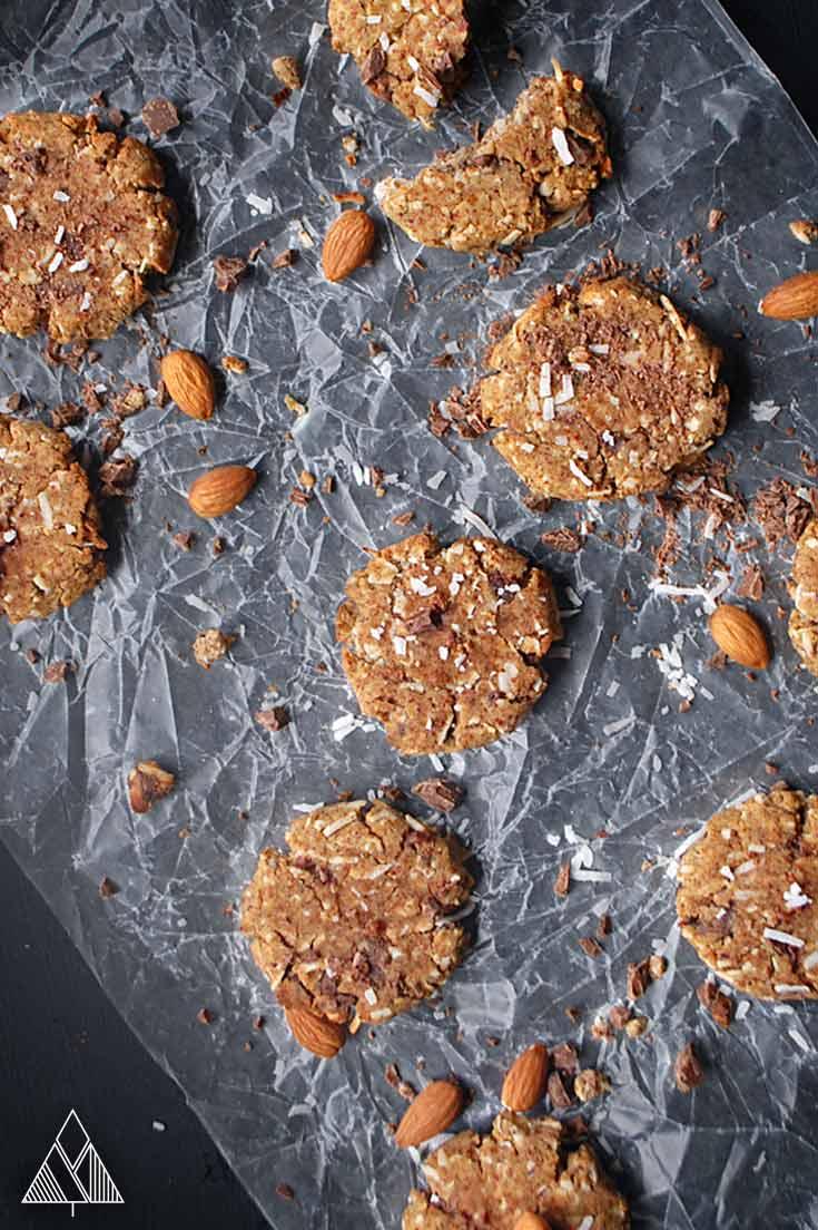 Almond flour cookies in a parchment paper