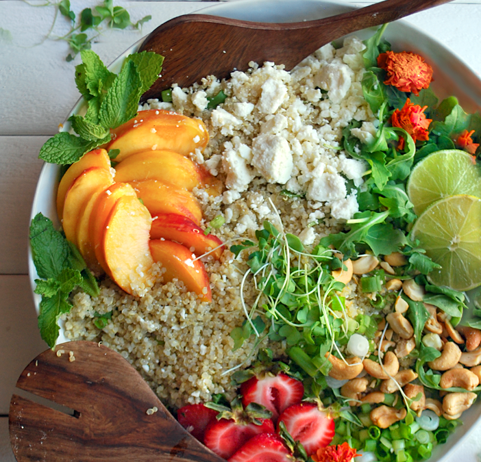Fully-Loaded Peach & Quinoa Salad