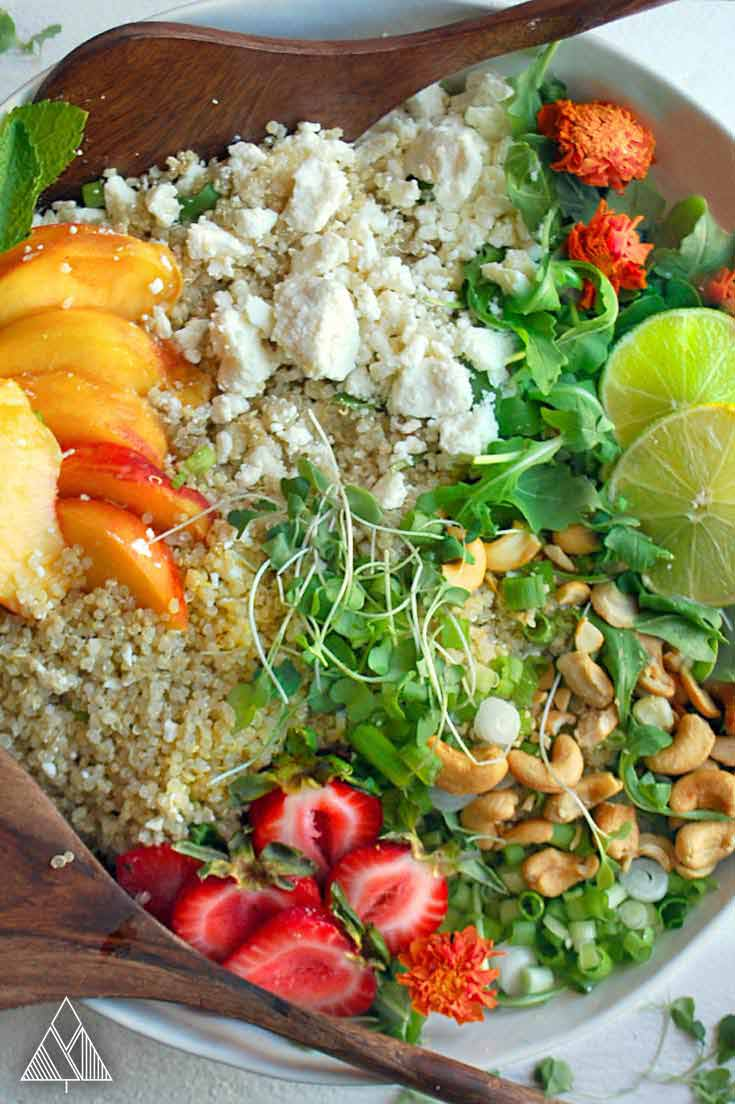 Peach and Quinoa Salad | The Little Pine