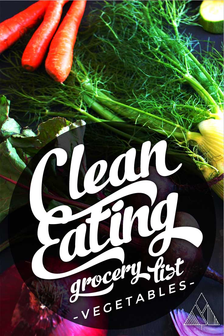 Clean Eating Grocery List-Images | The Little Pine