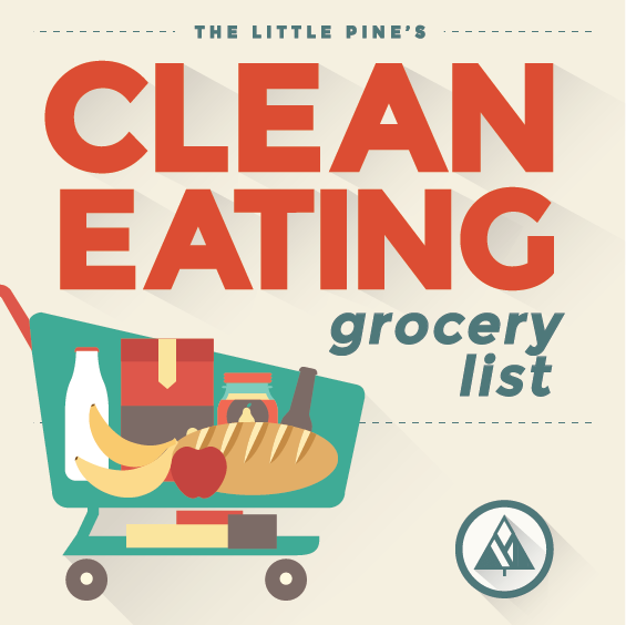 Clean Eating Shopping List Graphic