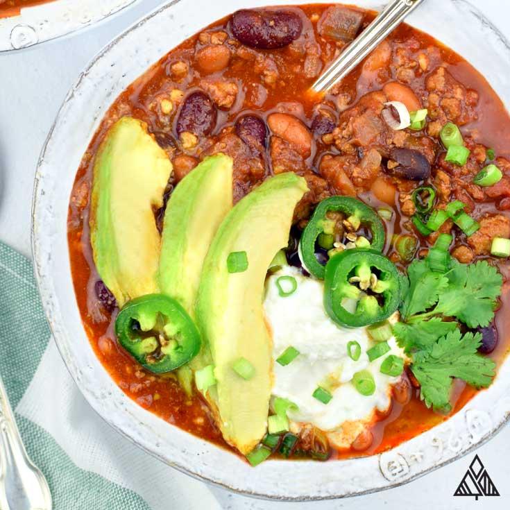 Hearty + Healthy Homemade Chili