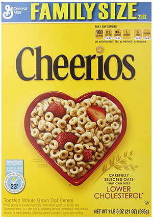 box of cheerios gluten free cereal