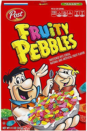 box of fruity pebbles gluten free cereal