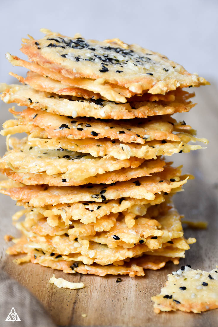low carb chips stacked