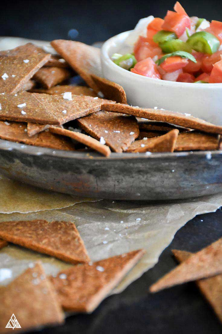 Low Carb Tortilla Chips Dippable Crunchy Deliciousness