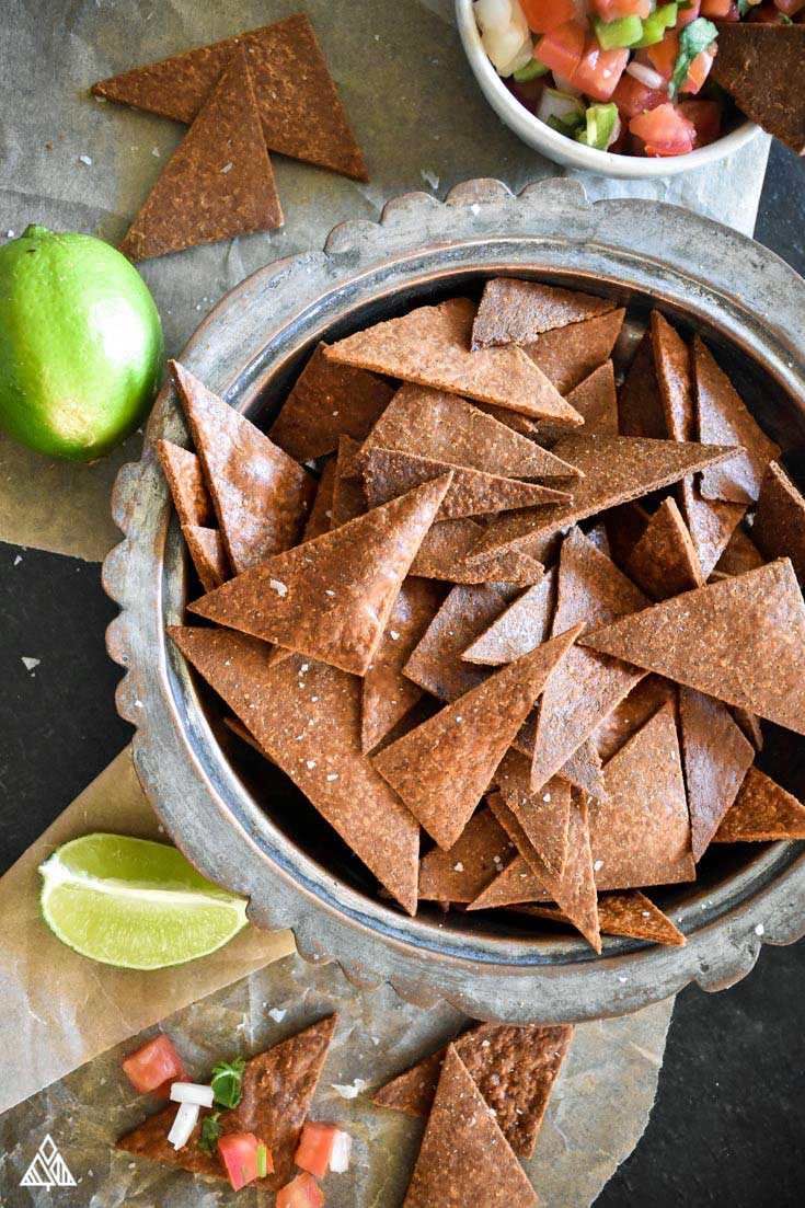 Low Carb Tortilla Chips - Dippable, Crunchy, Deliciousness - The Little Pine