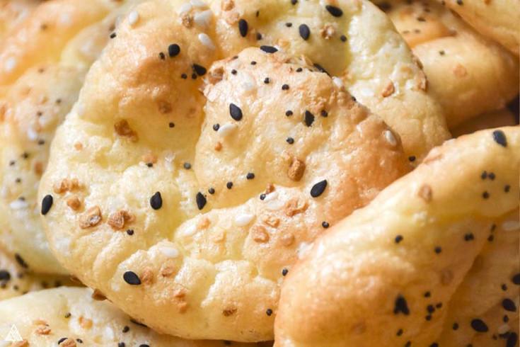Closer look of oopsie bread