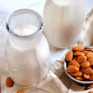 how to make almond milk in 2 jars with almonds