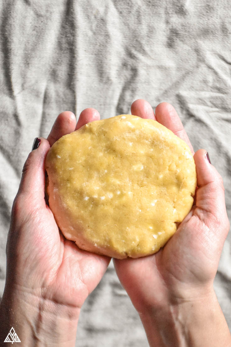 Low Carb Pie Crust dough, form a disk with your hands