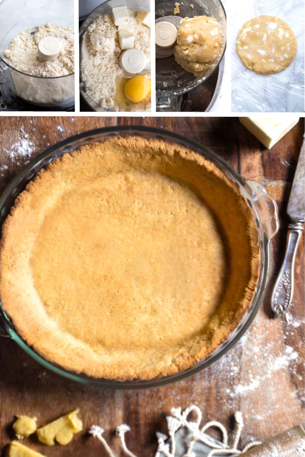 Your gluten free dreams have just come true—it's a pie crust made of almond flour, that doesn't crumble when you slice it! #lowcarb #keto #glutenfree #grainfree #healthy #recipe #almond #coconutflour #pecan #diabeticfriendly #desserts #dinners #paleo #cleaneating #diet #butter #veggies #psylliumhusk #almondflour #oven
