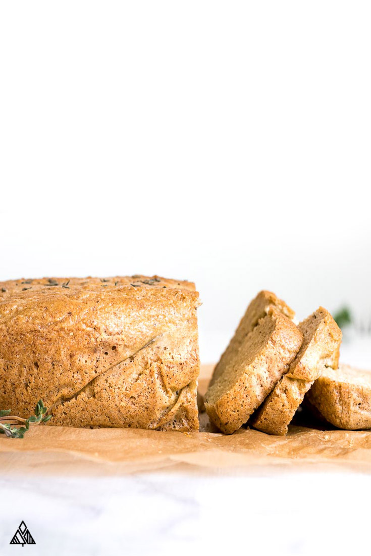 Sliced almond flour bread
