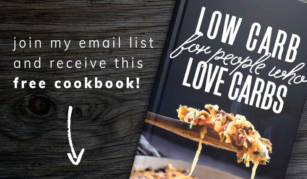 low carb cookbook footer