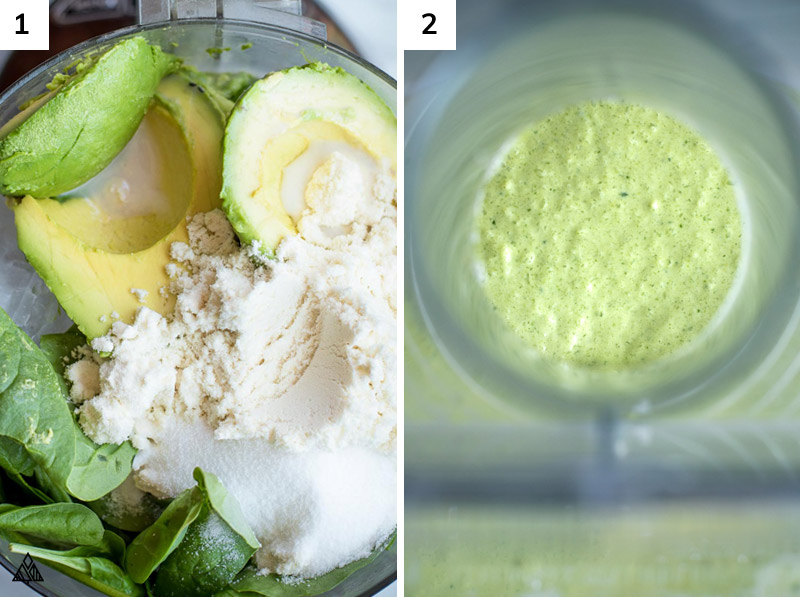 low carb ingredients mixed in a blender