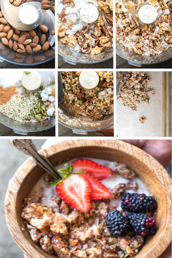 Looking for a low carb breakfast worth getting out of bed for? This low carb granola is what you've been waiting for! #lowcarb #keto #glutenfree #grainfree #healthy #recipe #sugarfree #homemade #peanutbutter #almondnuts #highprotein #eggwhites #granolabars #chocolate #paleo #granolabites #almondflour #stevia #mornings #cleaneating