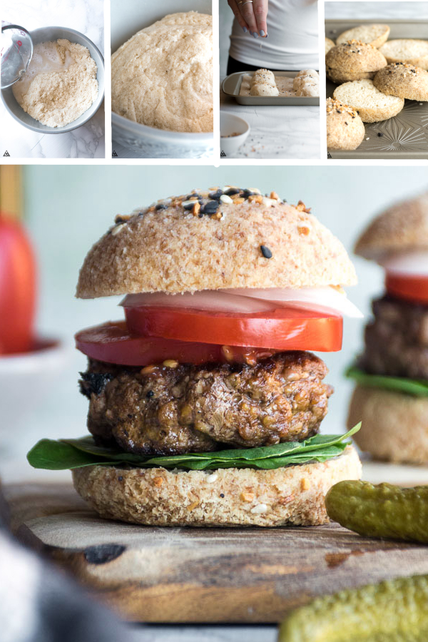 Lettuce wrapped burgers are for rookies. Make these low carb hambuger buns instead! #lowcarb #keto #glutenfree #grainfree #healthy #recipe #coconutflour #cloudbread #baking #lettucewraps #nutfree #eggs #dinners #sandwiches #paleo #stuffedburgers #muffins #cleaneating #healthyeating #weightloss