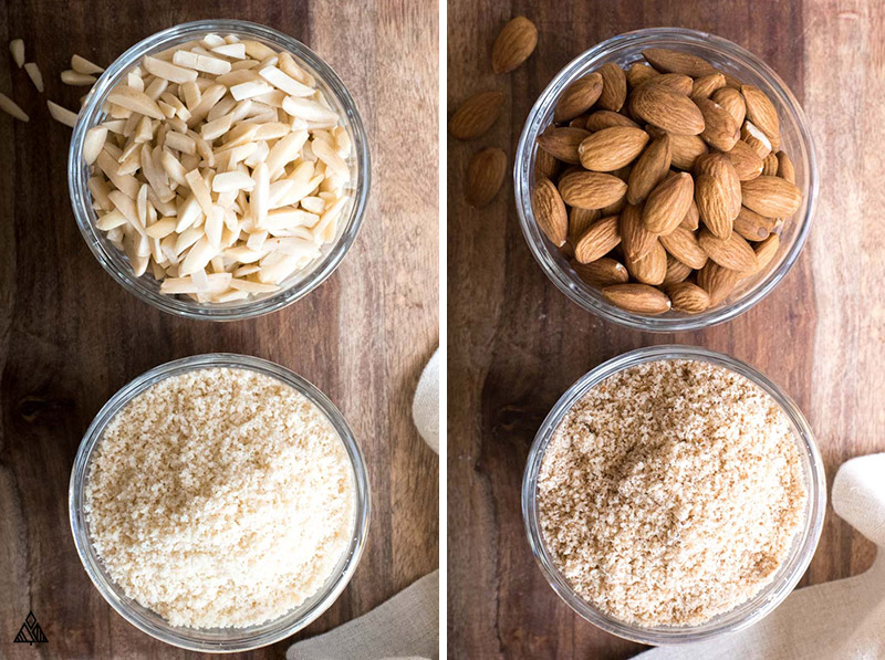 Almonds, blanched almonds and almond flour