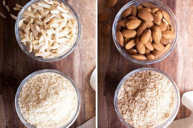 the difference between almond flour and almond meal