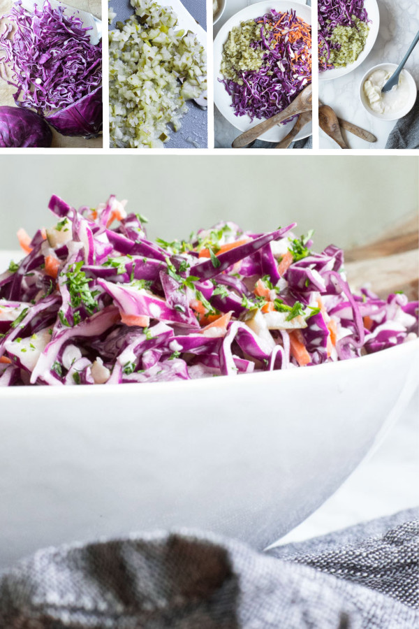 Have you tried pickles in you Keto Coleslaw yet? Game changer... #lowcarb #keto #glutenfree #grainfree #healthy #recipe #greekyogurt #redcabbage #oliveoils #groundbeef #greenonions #cabbages #bluecheese #lunch #sidedishes #pulledpork #cleaneating #veggies #vegetables #dinners