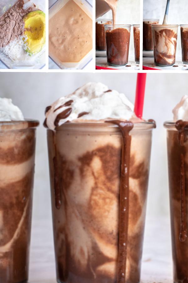 Don't judge, I had one of these low carb milkshakes for breakfast. #lowcarb #keto #glutenfree #grainfree #healthy #recipe #drinks #breakfast #smoothies #atkins #highprotein #chocolate #peanutbutter #almondmilk #erythritol #coconutmilk #whippedcream #chocolatesyrup #greekyogurt #atkinsdiet