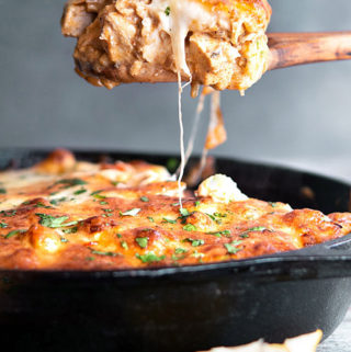 Low carb mexican chicken casserole in a pan