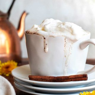 A cup of sugar free pumpkin spice latte