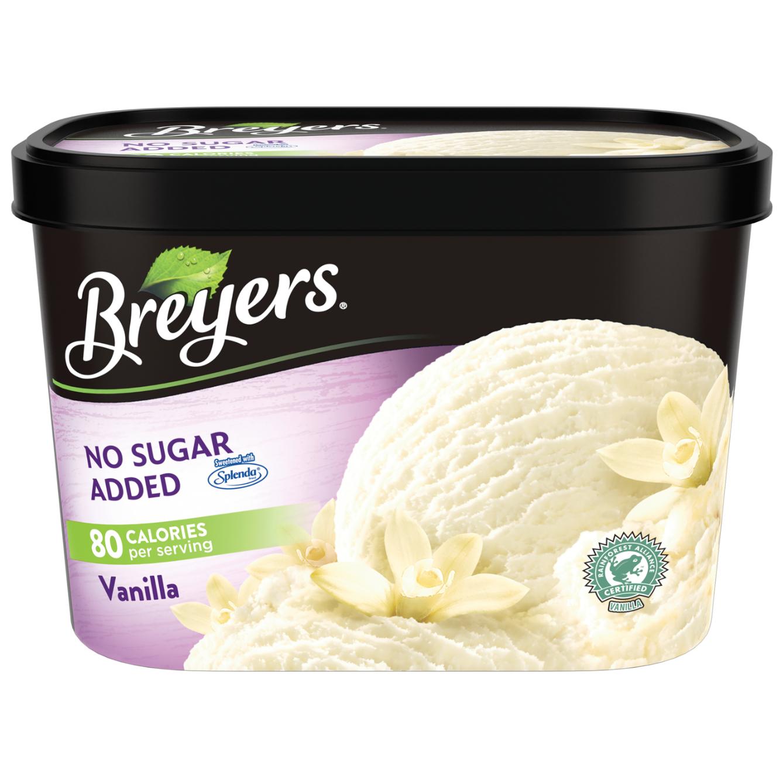 container of breyers ice cream