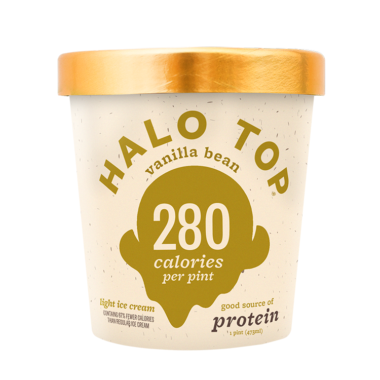 container of halo top ice cream