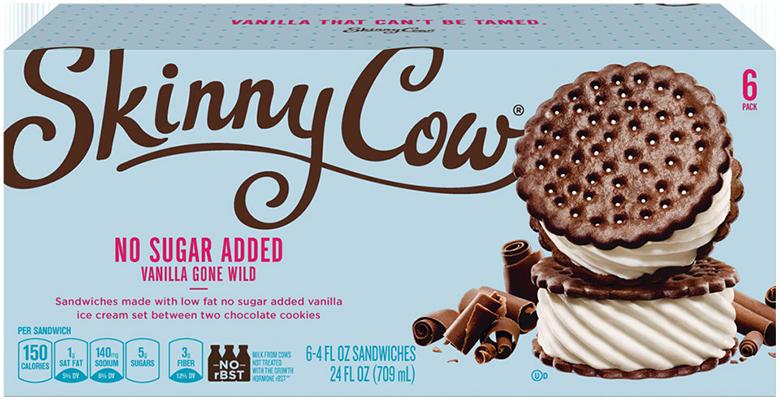 box of skinny cow ice cream sandwiches