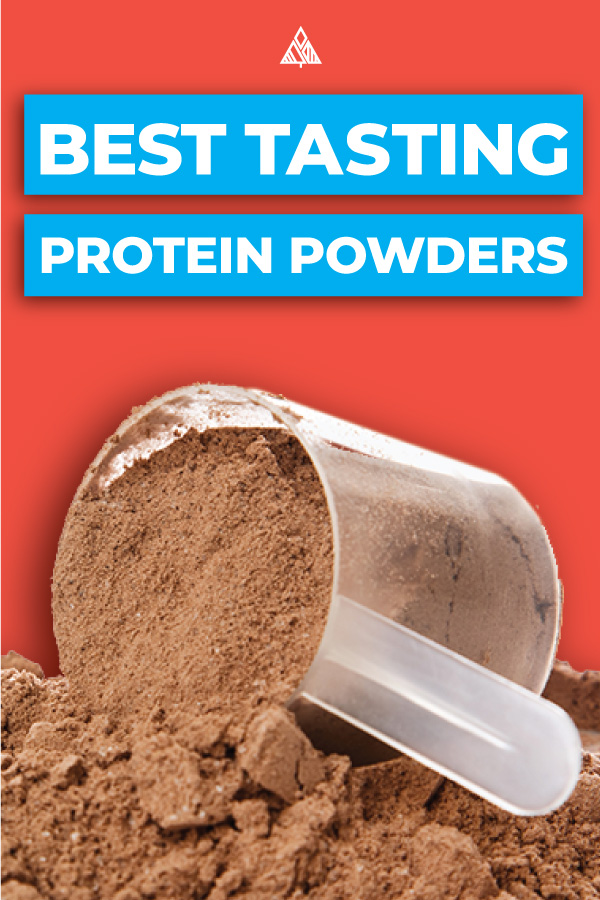 Image of protein powder with a title at the top