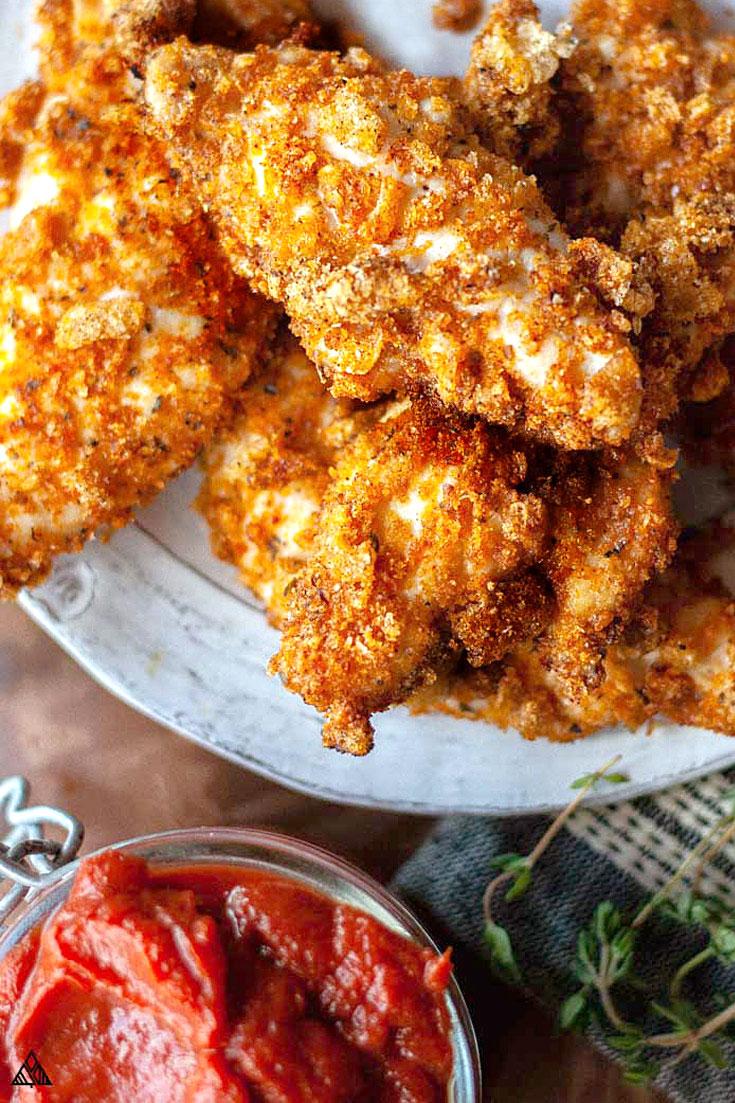 Keto fried chicken in a plate