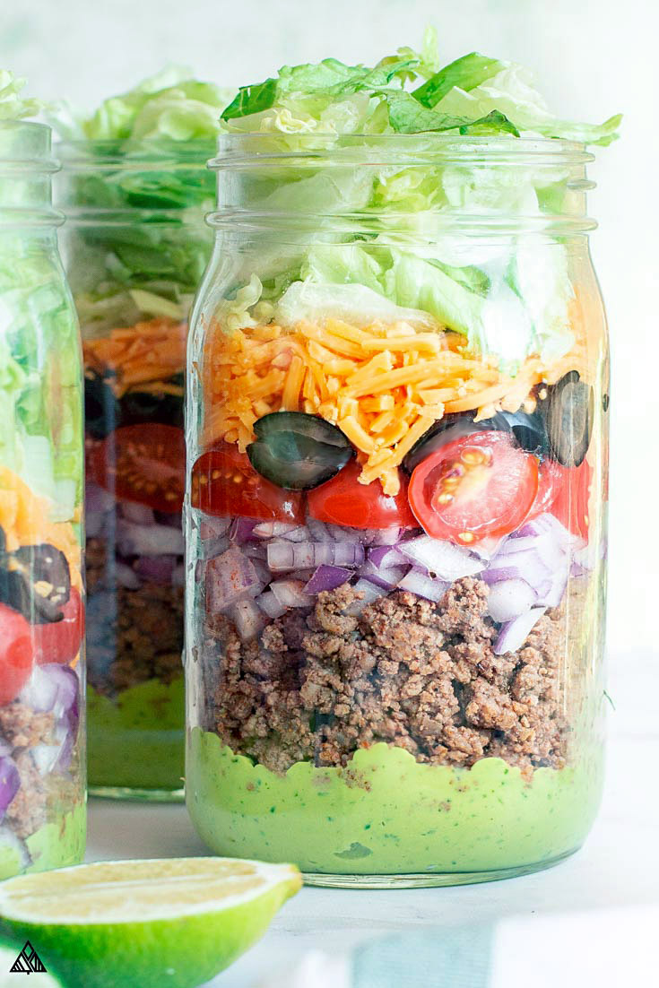3 jars of keto taco salad