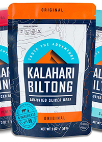 bag of the low carb beef jerky kalahari biltong