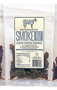bag of the low carb beef jerky the naked cow