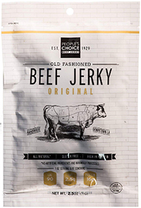 bag of the low carb beef jerky people's choice
