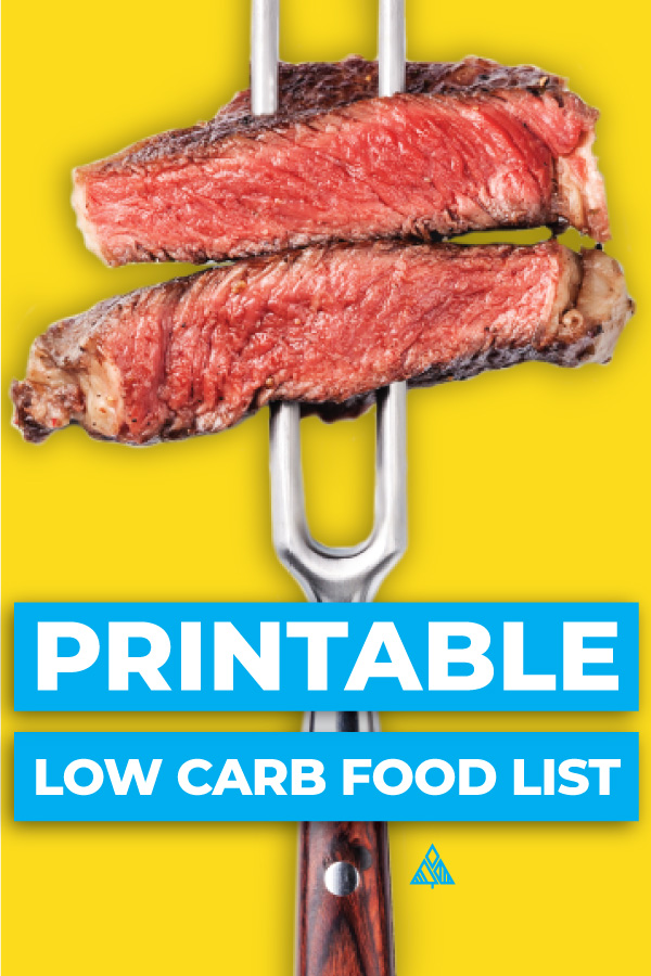 graphic regarding Free Printable Keto Food List titled Small Carb Foods Listing Printable
