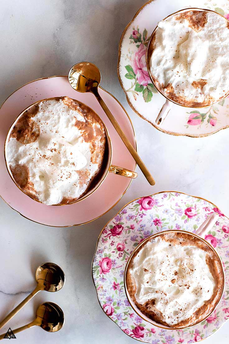 3 cups of keto hot chocolate