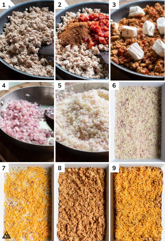 Process in making ground chicken casserole