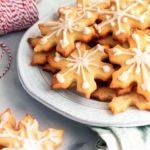 Keto sugar cookies in a plate