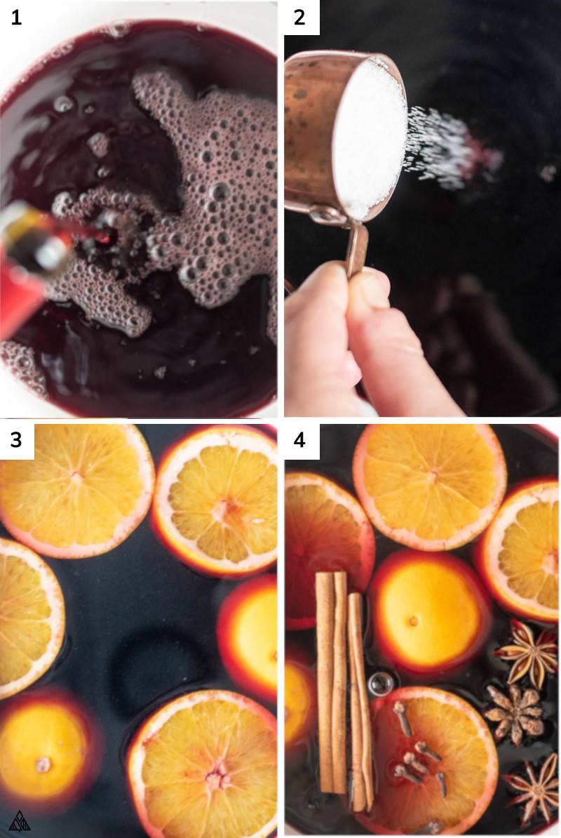 Process of making low carb mulled wine