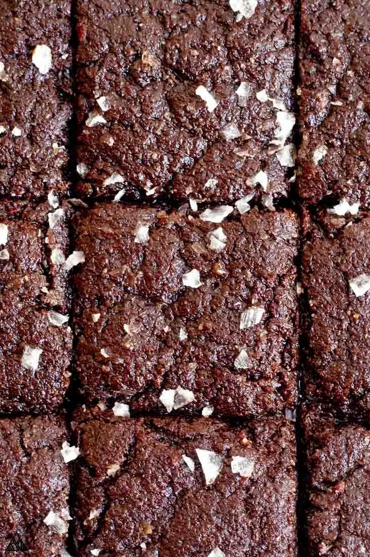 Sliced keto brownies
