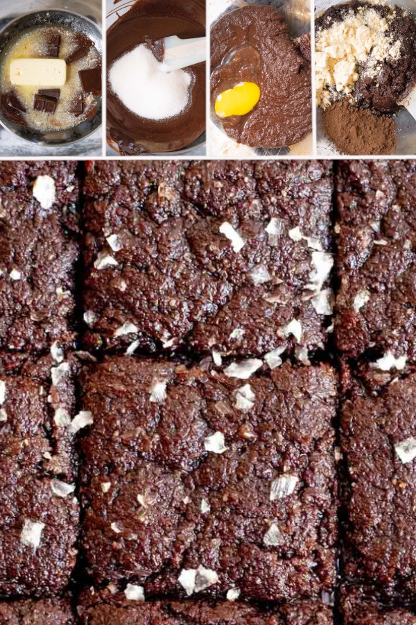 Super easy and ridiculously fudgy keto brownies — made with almond flour and erythritol, top these bad boys with low carb nuts or coconut flakes for a treat! #ketobrownies #lowcarbbrownies