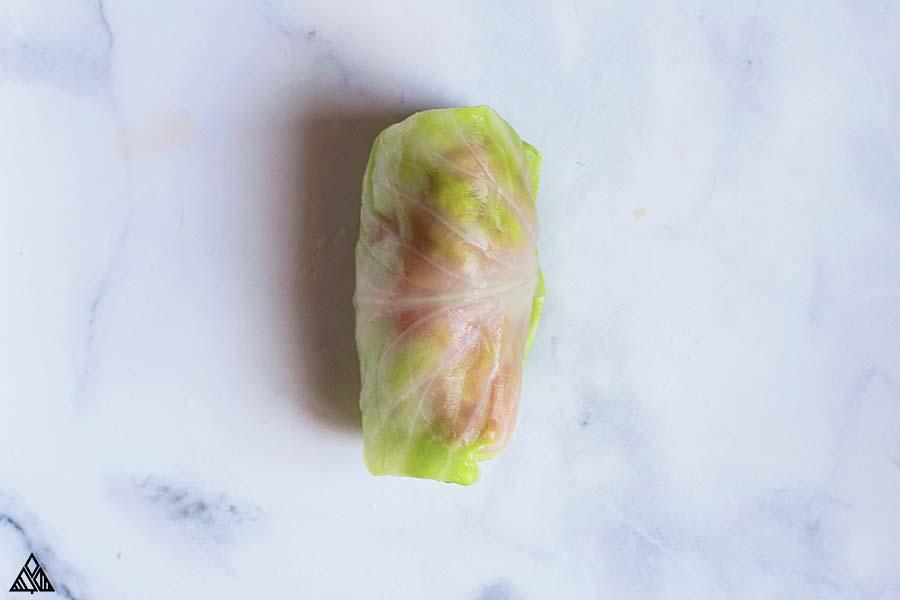 Raw keto cabbage rolls