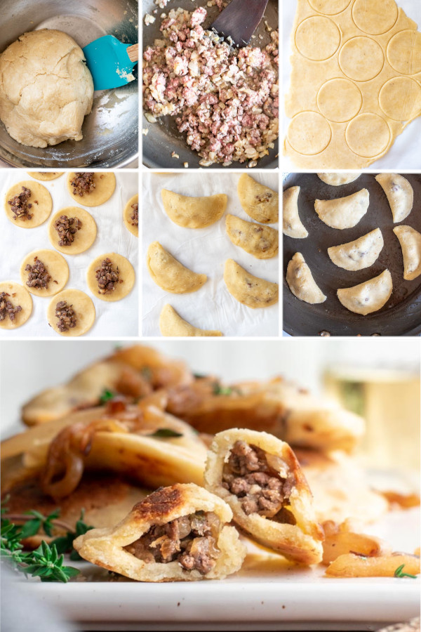 When you think of keto dumplings, do you think of potstickers or pierogies? 🤤❤️ . I think of pierogies since we just got back from Poland, and they sold them at every restaurant and on street corner! This dough is super delicious and easy to work with, so stuff it with whatever you're craving! #ketodumplings #lowcarbdumplings