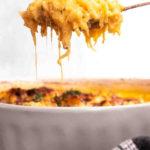 A spoonful of keto spaghetti squash