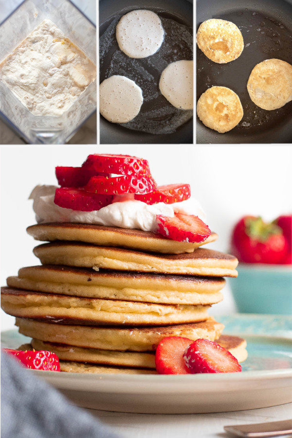 What're your favorite low carb pancake toppings? 🥞🥞🥞 . I'm all about strawberries and low carb Greek yogurt -- Greek yogurt for protein and strawberries because, duh. .#lowcarbpancakes #ketopancakes
