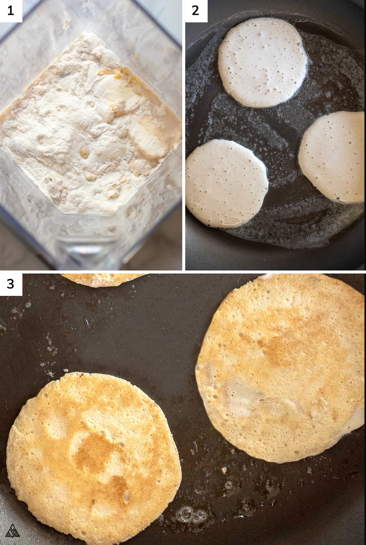 Steps in making low carb pancakes